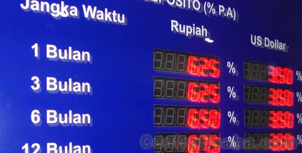 Bunga Deposito Bank BCA-Mandiri-BRI-Mega-Danamon-BNI-CIMB-Niaga