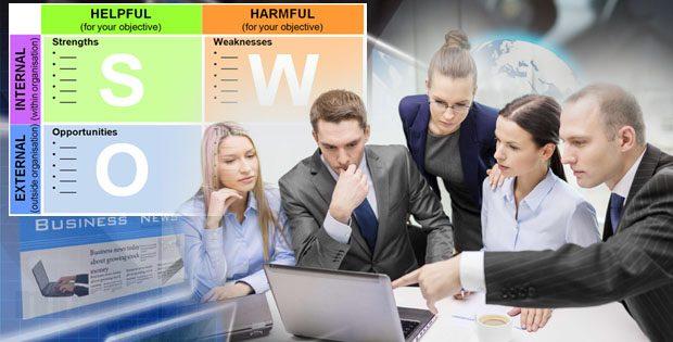 Membuat contoh analisis SWOT Perusahaan