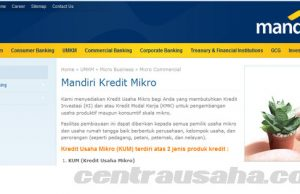 Pinjaman uang Mandiri Kredit Mikro