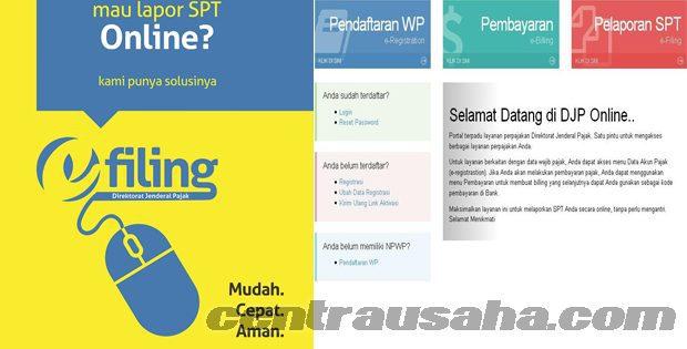 Registrasi DJP Online dan Lapor Pajak menggunakan fasilitas e-filing