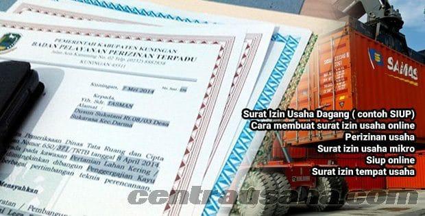 Contoh SIUP surat izin untuk usaha dagang