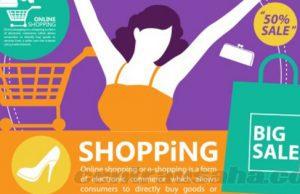Belanja online mendapatkan harga murah diskon dan promo