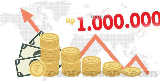 Investasi modal Rp 1 juta