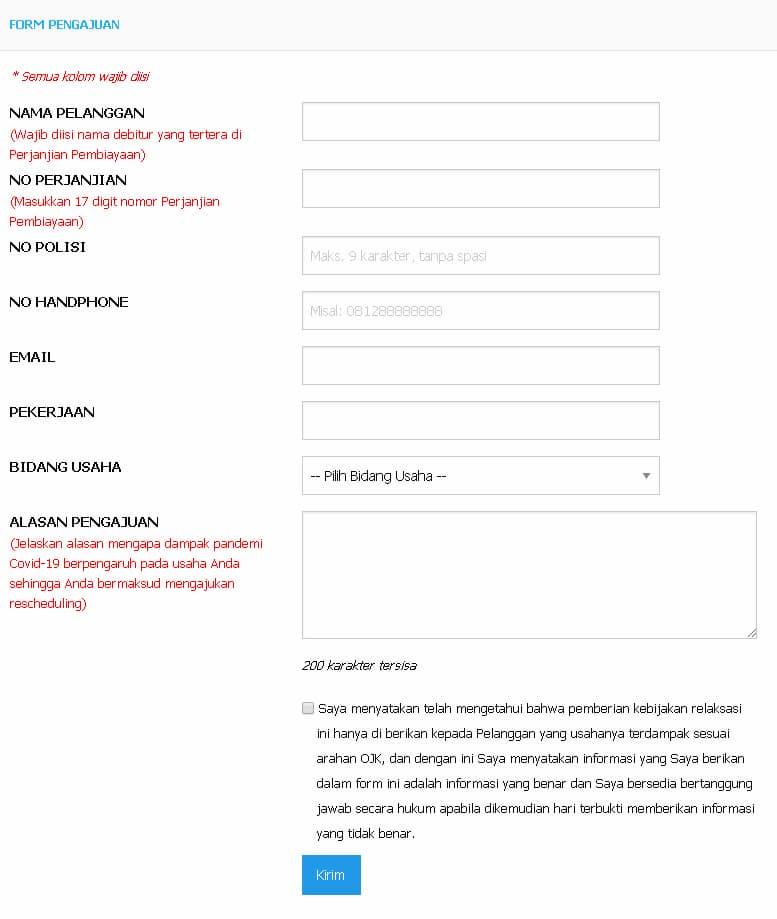 Formulir Pengajuan Kredit