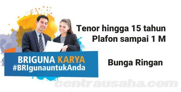 Briguna Karya Pinjaman BRI tanpa Jaminan Bunga Rendah