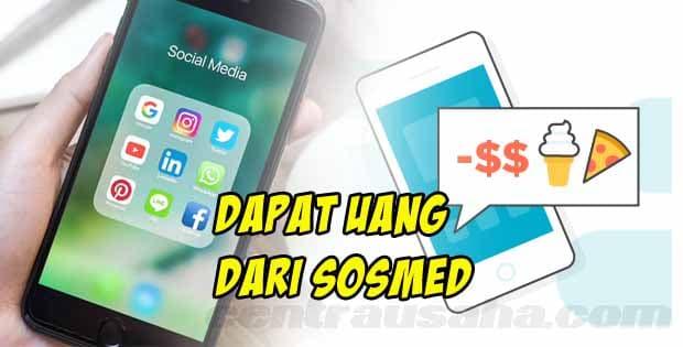 cara menghasilkan uang dari handphone - menggunakan sosial media